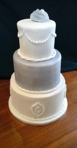Ivory and Silver Cake