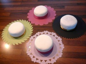 Small Cake with Ribbon