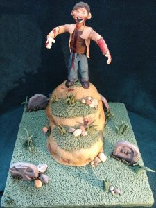 Zombie Graveyard RIP Cake
