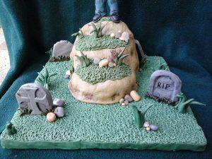 Zombie Graveyard Gravestones Cake