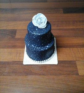 Space Cake with Rose