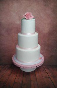 Simple Pink Blush Cake