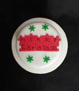 Christmas Puzzle Cake