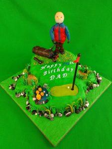 Golf Cake with Golfer