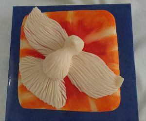 Confirmation Dove and Flames Cake