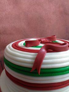 Christmas Cake with Bow