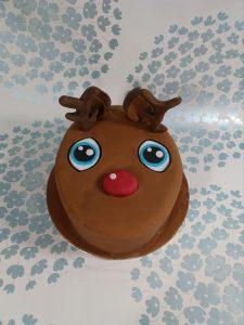 Rudolf the Red Nosed Reindeer Cake