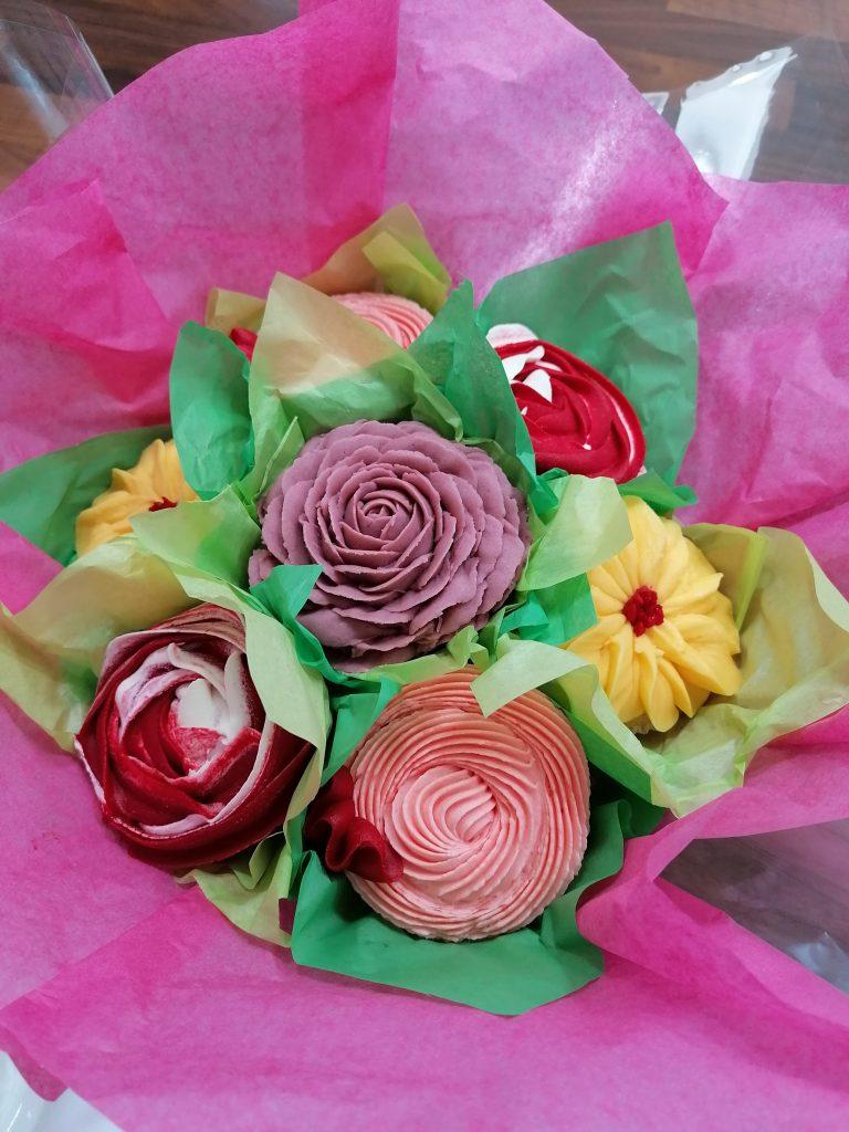 Floral Cupcake Bouquet.