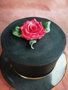 Black Marble Cake